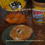 Udi plain bages with Natural Skippy honey flavored peanut butter.